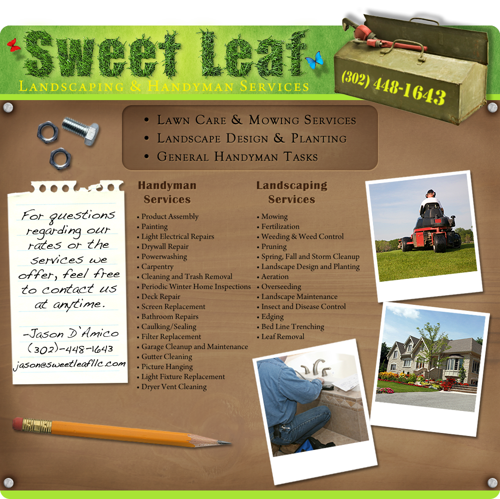 Sweet Leaf LLC Landscaping and Handyman Services in Bethany Beach Delaware